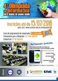 4ª Olimpíada de Informática - 2016