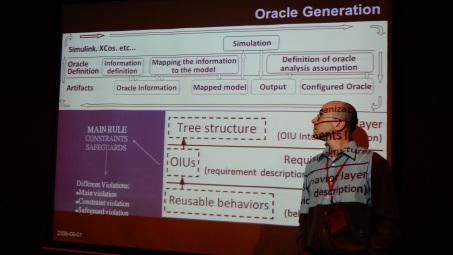 O professor Nardi, durante evento em Taiwan