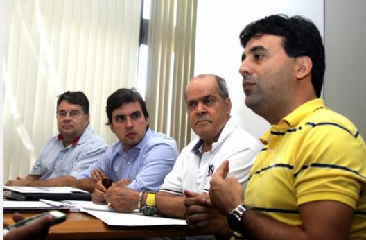 Prefeito Vínicius Camarinha, o Reitor do Univem, Luis Carlos de Macedo Soares e o Prof. Dr. Elvis Fusco, coordenador do Univem e Presidente da ASSERTI, anunciam o credenciamento do CITec-Marília